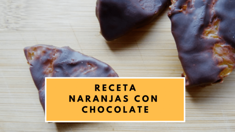 naranjas con chocolate