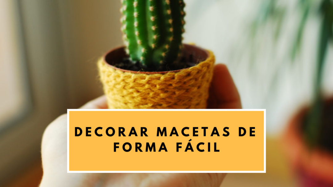 DIY: DECORAR MACETAS DE FORMA FÁCIL
